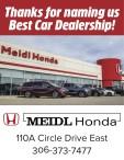 Thanks for naming Meidl Honda Best Car Dealership!