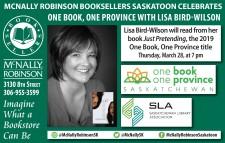 Lisa Bird-Wilson will read from her book Just Pretending