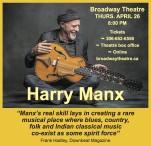 Broadway Theatre Presents Harry Manx
