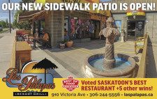 Las Palapas new sidewalk patio is open!